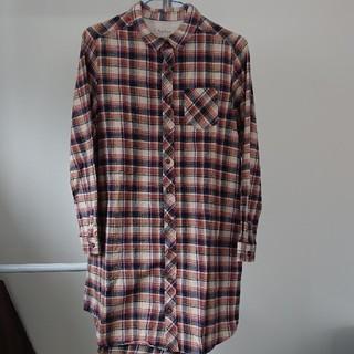 ロペピクニック(Rope' Picnic)のロペピクニック  ネル素材 ロングシャツ(シャツ/ブラウス(長袖/七分))