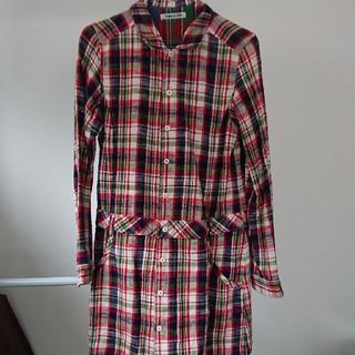 キューブシュガー(CUBE SUGAR)のCUBE SUGAR ネル素材 ロングシャツ(シャツ/ブラウス(長袖/七分))