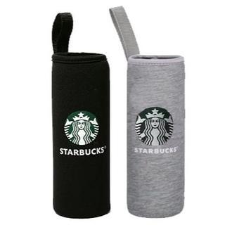 Starbucks Coffee - スターバックス ペットボトルカバー 2個 黒グレー保冷保温