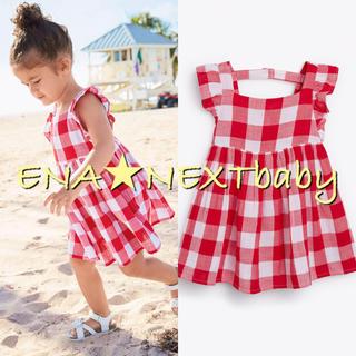NEXT - next♡ネクスト レッドホワイト チェックドレス