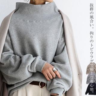 早い者勝ち【新品未使用】 アンティカ ハイネックデザイン 裏毛プルオーバー