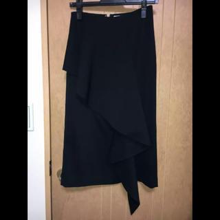 ルシェルブルー(LE CIEL BLEU)の値下げ ルシェルブルー フリル付タイトスカート 完売品(ひざ丈スカート)