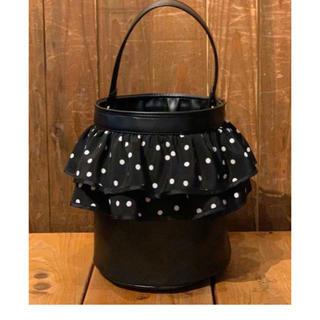 ☆ setsuko sagittaireセツコサジテールバケツ型バッグ黒フリル