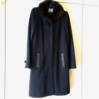 ランバンオンブルー(LANVIN en Bleu)のランバンオンブルー 上品ツイードコート(ロングコート)