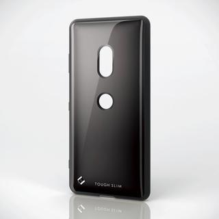 エレコム(ELECOM)のXperia XZ3(SO-01L/SOV39)用耐衝撃ケース ブラック(Androidケース)
