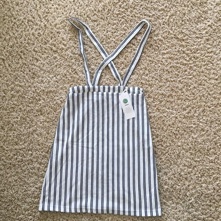 イッカ(ikka)のikka  ボーダー吊りスカート 160未使用(スカート)