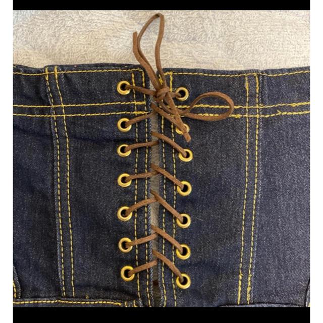 Rady(レディー)の背中編みハイウエストスキニーインディゴデニム レディースのパンツ(スキニーパンツ)の商品写真