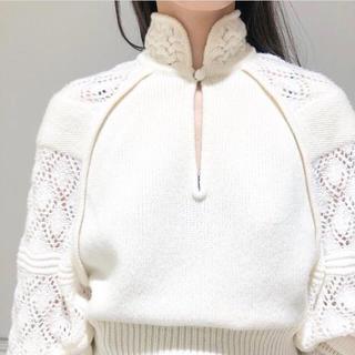 マメ(mame)の新品未使用 19AW mame Knit High-Neck Tops (ニット/セーター)