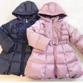 ANNA SUI mini - 新品 アナスイミニ お花とリボンのダウンコート 100  最終価格