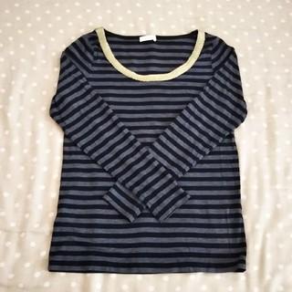 ヴィス(ViS)のViS/長袖薄手ボーダーTシャツ(Tシャツ(長袖/七分))
