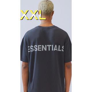 フィアオブゴッド(FEAR OF GOD)のEssentials エッセンシャルズ Tシャツ ブラック×シルバー XXL(Tシャツ/カットソー(半袖/袖なし))