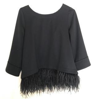 ルシェルブルー(LE CIEL BLEU)の裾フェザートップス(カットソー(長袖/七分))