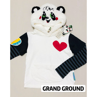 GrandGround - グラグラ 重ね着風 ロンT トレーナー パーカー 新品 110