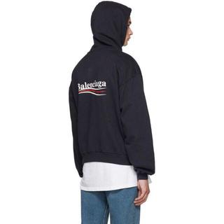 Balenciaga - バレンシアガ キャンペーンロゴ パーカー ネイビー XXS