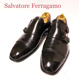 サルヴァトーレフェラガモ(Salvatore Ferragamo)の176.Salvatore Ferragamo TRAMEZZA モンク 7(ドレス/ビジネス)
