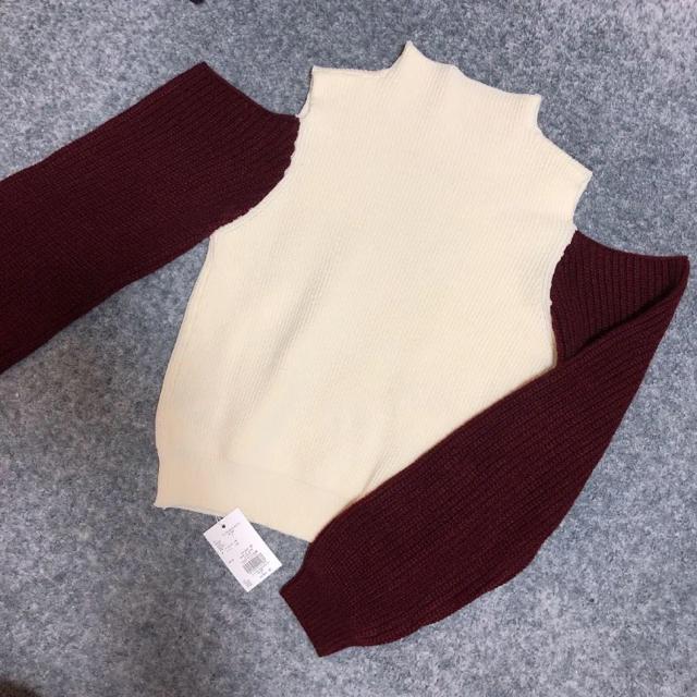 MURUA(ムルーア)の新品タグ付き MURUA カットスリーブニット レディースのトップス(ニット/セーター)の商品写真