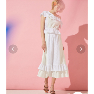 プロポーションボディドレッシング(PROPORTION BODY DRESSING)のEDIT COLOGNE フラワーマーメイドスカート 新品タグ(ロングスカート)