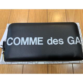 コムデギャルソン(COMME des GARCONS)のコムデギャルソン HUGE LOGO 長財布 ロゴ 黒 ウォレット black(長財布)