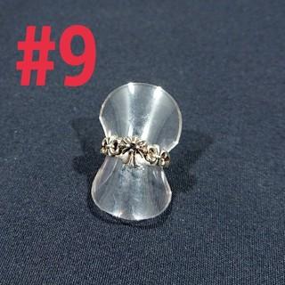 silver925 3連クロスring#9(リング(指輪))