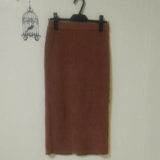 ジーユー(GU)のなぎさ様専用GU☆未使用リブニットタイトスカート(ロングスカート)