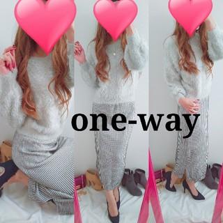 one*way - ワンウェイ♥️前後Vカットシャギーニット☆