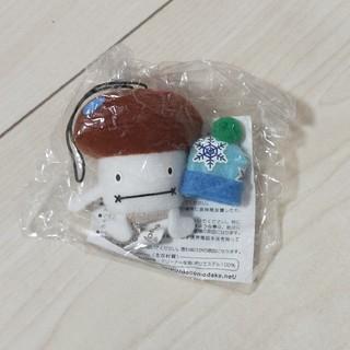 新品☆ドコモダケ ぬいぐるみストラップ 冬バージョン ニット帽(ノベルティグッズ)