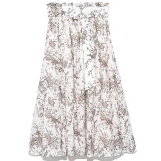Mila Owen - ウエストゴムベルト付フレアスカート 新品タグ付き