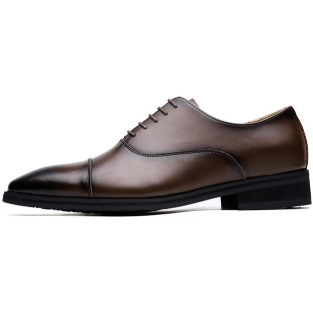 数量限定‼️ 新品未使用 日本製本革 ビジネスシューズ 紳士靴 90ーDBR メンズの靴/シューズ(ドレス/ビジネス)の商品写真