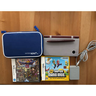 ニンテンドーDS(ニンテンドーDS)の任天堂DSiLL、ソフト、ケース、充電ケーブル(家庭用ゲーム機本体)