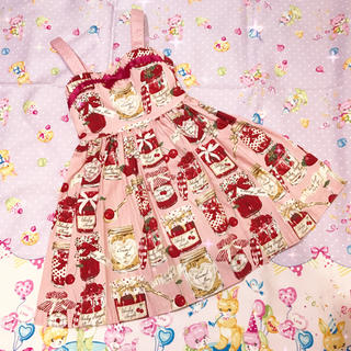 Shirley Temple - シャーリーテンプル 100 ジャム瓶JSK ピンク
