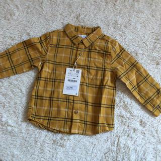 ザラキッズ(ZARA KIDS)のザラベイビー チェックシャツ(Tシャツ/カットソー)