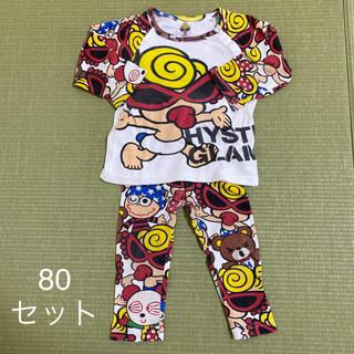 ヒステリックミニ(HYSTERIC MINI)のヒスミニ ロンティーレギンスセット 80(Tシャツ)