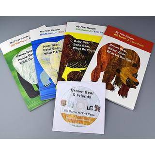 Eric Carle -Brown Bear-4冊英語絵本 おまけCD付き、新品