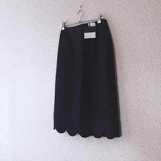 BARNEYS NEW YORK - ヨーコチャンタグ付新品スカラップスカート ネイビーyokochan 入学卒園に