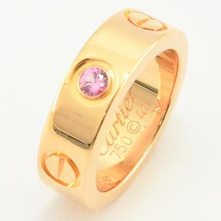 カルティエ(Cartier)のカルティエ ラブリング  指輪 ピンクサファイア 1P  #45 約5号(リング(指輪))