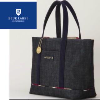 BURBERRY BLUE LABEL - ブルーレーベルクレストブリッジ  新品 トートバッグ デニム チェック
