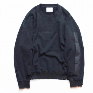 サンシー(SUNSEA)のstein oversized rebuild sweat 【navy】【S】(スウェット)