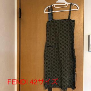 FENDI - FENDI フェンディ タイトキャミワンピース 42