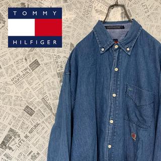TOMMY HILFIGER - 90s 【オールドトミー】トミーヒルフィガー BDデニムシャツ ビッグサイズ