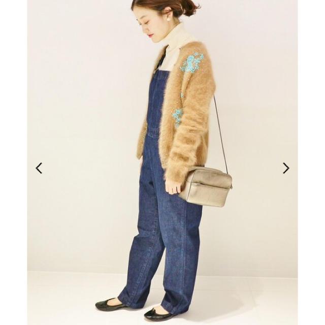 IENA(イエナ)の⭐︎新品同様⭐︎IENA アンゴラ混ビーズ刺繍カーディガン レディースのトップス(カーディガン)の商品写真