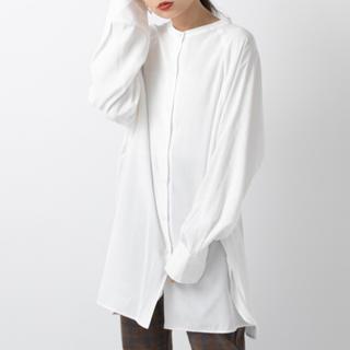 mystic - mystic 新品未使用タグ付き BACKリボンロングシャツ オフホワイト