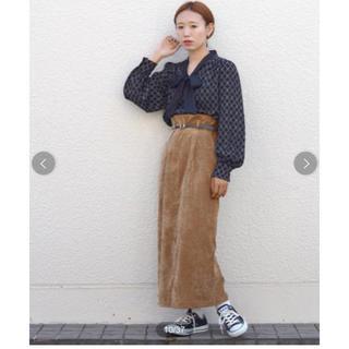ダブルクローゼット(w closet)のwcloset ウエストタックタイトロングスカート スカート(ロングスカート)