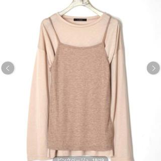 w closet - wcloset シアーロンTee&テレコキャミセット カットソー Tシャツ