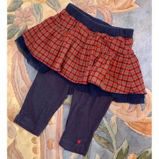 familiar - 美品✨ファミリア チェック XF スカッツ スパッツ 70 レギンススカート