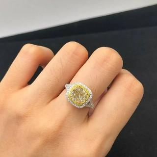 2.23ct  Fancy Yellowダイヤモンドリング(リング(指輪))