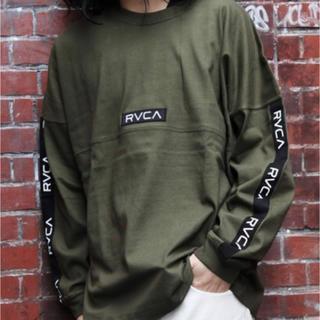 RVCA - 新品 RVCA ルーカ オーバー サイズ ロゴ ライン テープ ロンT M