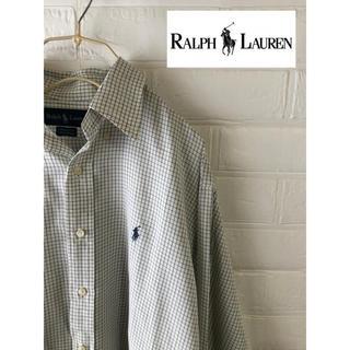 POLO RALPH LAUREN - 【希少】ラルフローレン シャツ ワンポイント 刺繍 90s 古着 古着女子