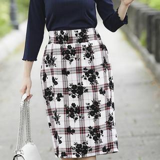 トッコ(tocco)の美品 未使用品♡tocco-closetトッコクローゼットチェック柄スカート(ひざ丈スカート)