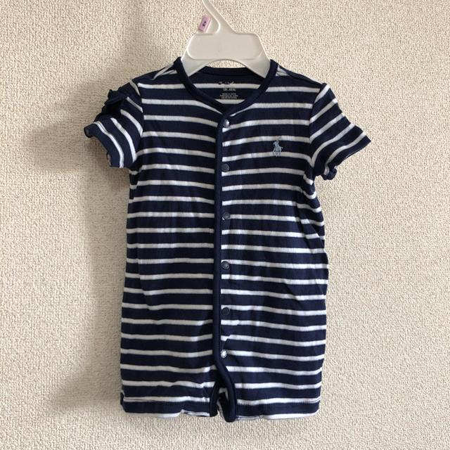 Ralph Lauren(ラルフローレン)の新品 ラルフローレン  6M/6ヶ月 前開け 紺色 ショートオール キッズ/ベビー/マタニティのベビー服(~85cm)(ロンパース)の商品写真