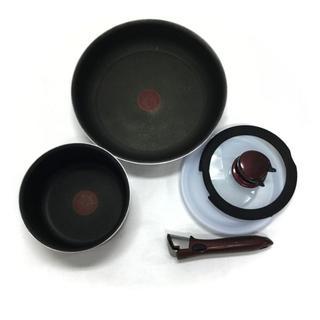 ティファール(T-fal)のT-fal ティファール フライパン 小鍋 取っ手 フタ 5点セット(鍋/フライパン)